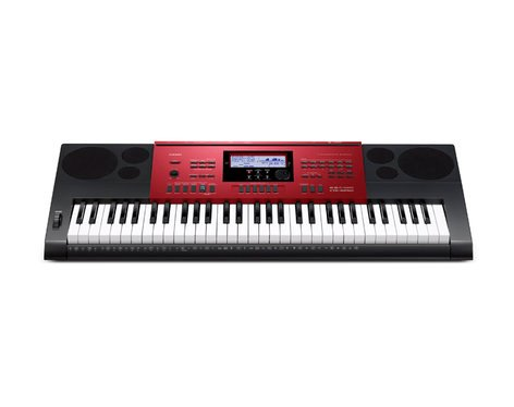 Casio CTK-6250 61-Key Synthesizer / Keyboard in Red CTK6250