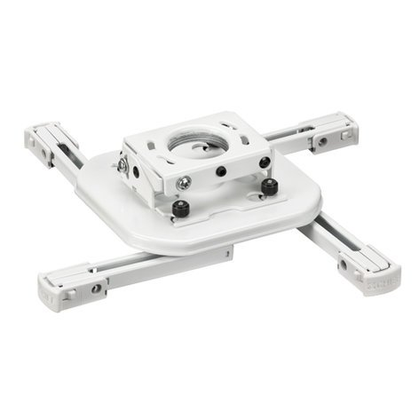 Chief Manufacturing RSAUW Mini Universal RPA Projector Mount in White RSAUW