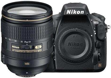 Nikon 1556 36.3MP D810 DSLR Camera with AF-S NIKKOR 24-120mm f/4G ED VR Lens 1556