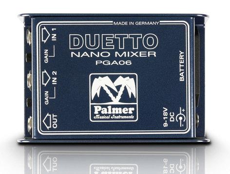 Palmer Duetto Nano Mixer for Guitar/Line Level Signals PDUETTO