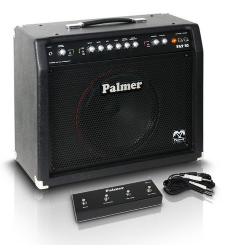 "Palmer Fat 50 50W 4-Channel 1x12"" Tube Guitar Combo Amplifier PFAT50"