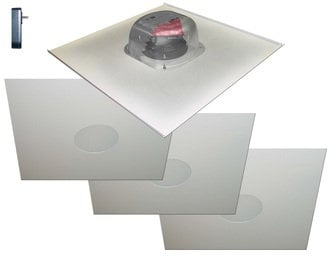 """OWI Incorporated 2X2AMP-R2S64  Two-Source 6.5"""" Amplified Drop Ceiling Speaker Package with (4) Ceiling Speakers 2X2AMP-R2S64"""
