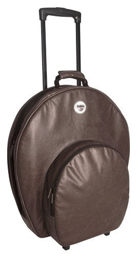 """Sabian P24VBWN  Pro 24 Cymbal Bag in Vintage Brown with Wheels and Handle, holds Cymbals up to 24"""" P24VBWN"""