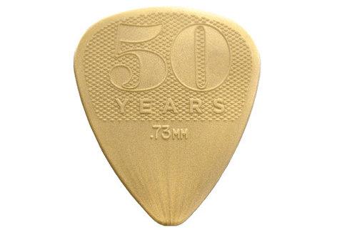 Dunlop Manufacturing 442P  50th Anniversary Gold Nylon Guitar Pick 442P
