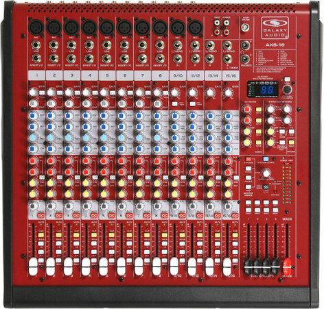Galaxy Audio AXS-18 18-Channel Mixer with 10 XLR Mic Input & 4 Stereo Inputs AXS-18