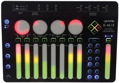 Keith McMillen Instrument K-Mix Audio Interface and Programmable Mixer, Mac/Win K-737