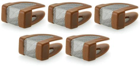 DPA Microphones DUA0523C  5 Pack of Replacement Makeup & Moisture Filters in Brown for d:fine Dual Ear Headworn Microphones DUA0523C