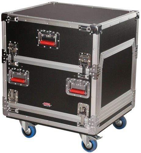 Gator Cases G-TOUR-GRC-1406  14RU Top / 6RU Bottom ATA Console Wood Flight Rack Case G-TOUR-GRC-1406