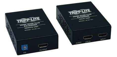 Tripp Lite B126-1A1 HDMI Over Cat5 / Cat6 Extender, Extended Range Transmitter and Receiver for Video and Audio - 1920x1200 1080p at 60Hz B126-1A1