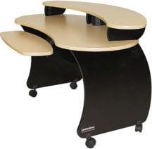 Omnirax NOVA A/V Desk with Riser, Plywood NOVA-PLYWOOD