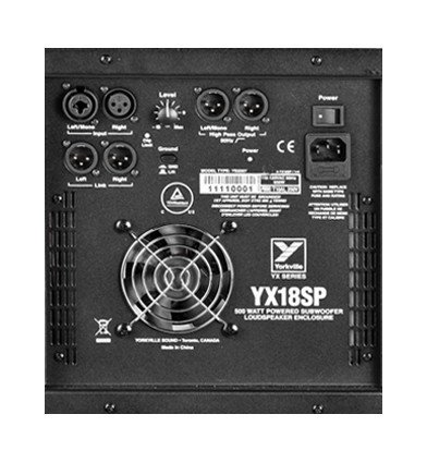 "Yorkville YX18SP YX Series 18"" 500W Powered Subwoofer YX18SPC"