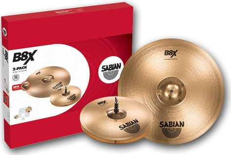 "Sabian 45002X B8X 2 Pack Cymbal Set with 14"" Hi-Hats and 18"" Crash Ride 45002X"