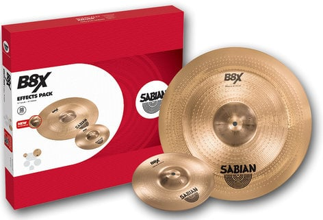"Sabian 45005X B8X Effects Pack with 10"" Splash, 18"" Chinese Cymbals 45005X"