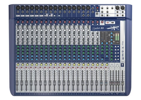Soundcraft Signature 22 22-Input Analog Mixer with Onboard Effects and 2x2 USB Interface SIGNATURE-22
