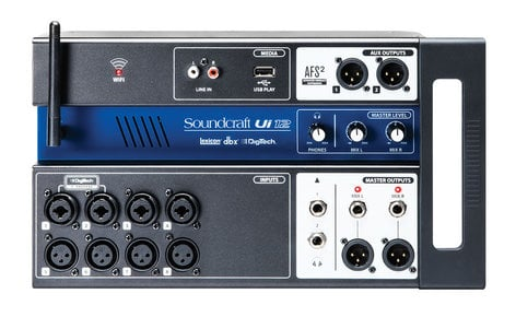 Soundcraft Ui12 12-Input Remote Controlled Digital Mixer with Onboard Wi-Fi and USB Media Playback UI12