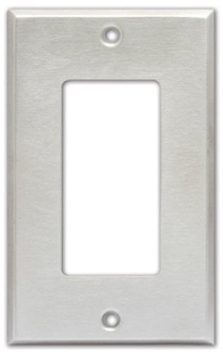 Radio Design Labs CP-1S Single Gang Decora Cover Plate in Stainless Steel CP1-S