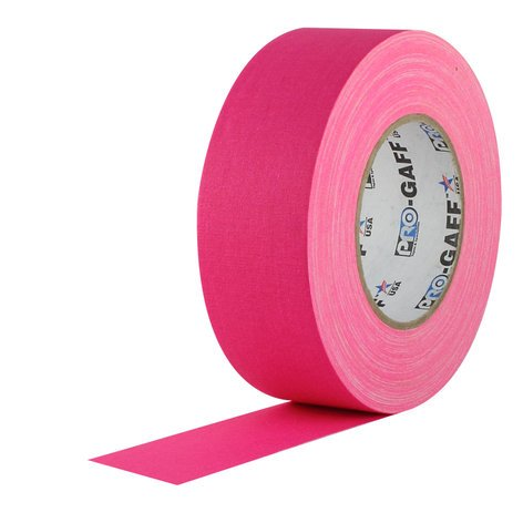 """Rose Brand Pro-Gaff Fluorescent-Colored 55 Yard Roll of 2"""" Wide Gaffers Tape GAFFERS-2""""-FLUORESCE"""