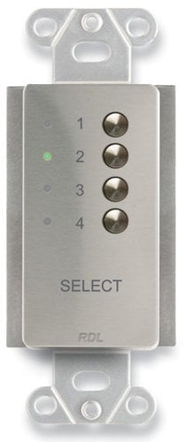 RDL DS-RC4M 4 Channel Remote Control in Stainless Steel DS-RC4M