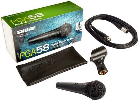 Shure PGA58-XLR PG ALTA Cardioid Dynamic Vocal Microphone with 15 ft XLR Cable PGA58-XLR