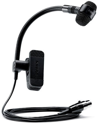 Shure PGA98H-TQG PG ALTA Clip-On Cardioid Condenser Gooseneck Instrument Microphone with TA4F Connector, without Preamp PGA98H-TQG