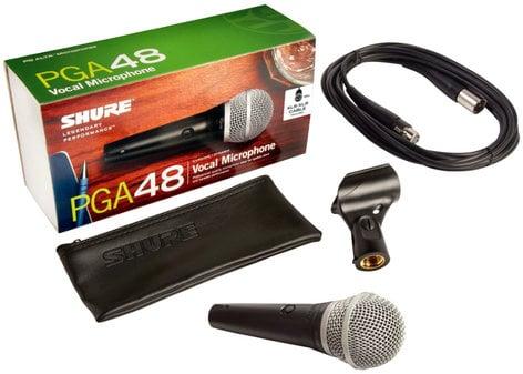 Shure PGA48-XLR PG ALTA Cardioid Dynamic Vocal Microphone with 15 ft XLR Cable PGA48-XLR