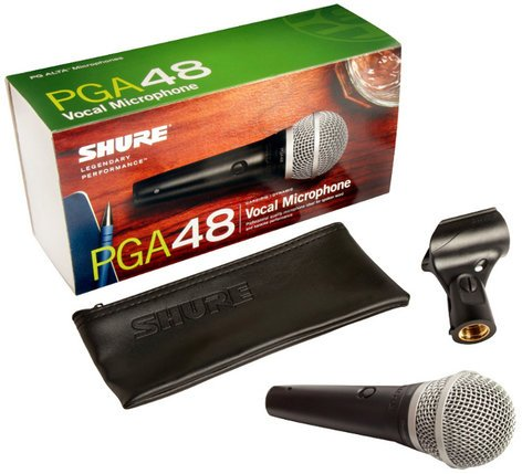 Shure PGA48-LC PG ALTA Cardioid Dynamic Handheld Vocal Microphone PGA48LC