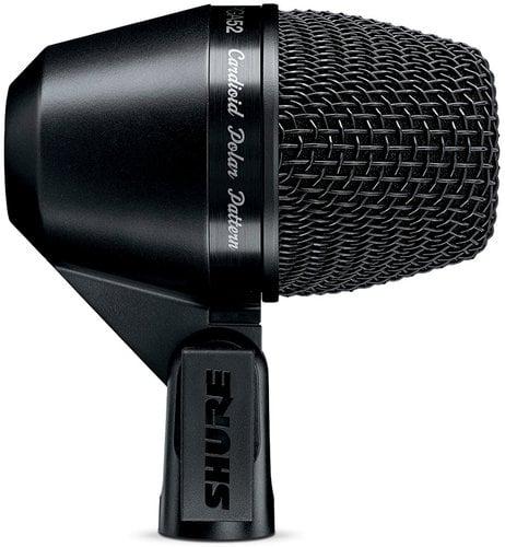 Shure PGA52-XLR PG ALTA Cardioid Dynamic Kick Drum Microphone with 15 ft XLR Cable PGA52-XLR