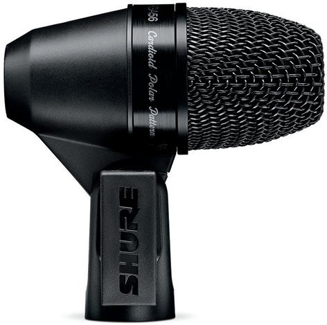 Shure PGA56-XLR PG ALTA Cardioid Dynamic Snare Drum / Tom Microphone with 15 ft XLR Cable and A50D Clip Mount PGA56-XLR