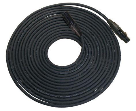 Rapco NBGDMX5-6 6 Foot Length of 5-Pin DMX, Neutrik Black XLRF to XLRM Cable NBGDMX5-6