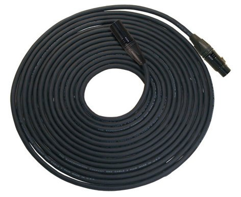 Rapco NBGDMX3-10  10 Foot Length of 3-Pin DMX, Neutrik Black XLRF to XLRM Cable NBGDMX3-10
