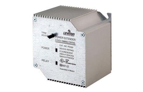 Leviton PE300-D0W  Power Extender, 120 or 277V input, 120V 2400VA Output (or 277V 5500VA)  for 0-10VDC Electronic Ballasts PE300-D0W