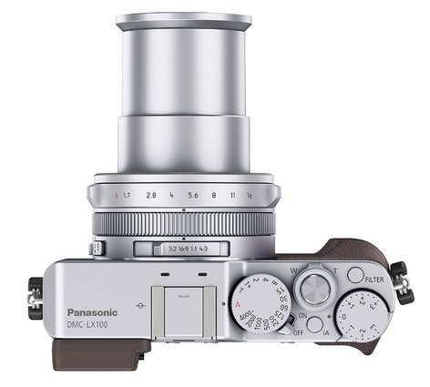 Panasonic DMC-LX100S 16.8MP LUMIX LX100 Integrated Leica DC Lens Camera with Advanced Controls in Silver DMC-LX100S