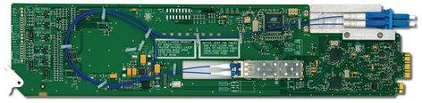 Ross Video Ltd FDT-6604-R2  3G/HD/SD SDI Dual Fiber 1310nm Converter/Transmitter with Full 2 Slot Rear I/O Module FDT-6604-R2