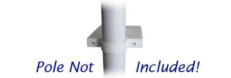 Nigel B Design NB-MPB-W  Multi Purpose White Pole-Mount Shelf Bracket NB-MPB-W