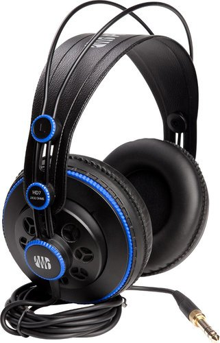 PreSonus HD7 Semi-Open Monitoring Headphones with 50mm Drivers and Detachable Cable HD7