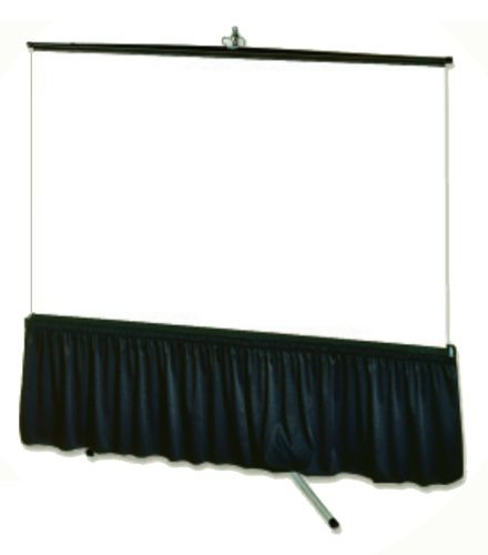 "Draper Shade and Screen C168.149  87"" Black Vellite Tripod Screen Skirt C168.149"