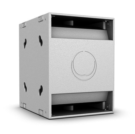 """Turbosound NUQ118B-WH  18"""" 600W (8 Ohms) Passive Portable Band-Pass Subwoofer in White NUQ118B-WH"""