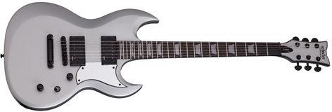 Schecter Guitars S-II Platinum Satin Silver String-Thru Electric Guitar S-II-PLATINUM-SSV