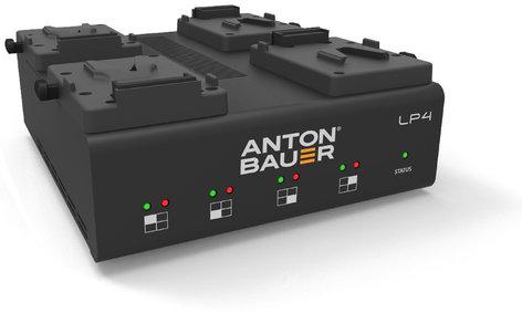 Anton Bauer 8475-0128 LP4 Quad V-Mount Charger 8475-0128