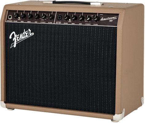 "Fender Acoustasonic 90 90W 2-Channel 8"" Acoustic Guitar Combo Amplifier ACOUSTASONIC-90"