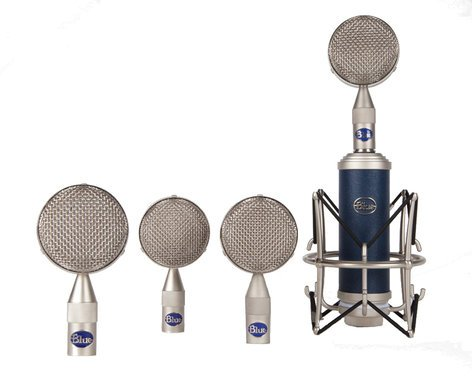 Blue Microphones Bottle Rocket Mic Locker Microphone Kit with Bottle Rocket Stage One and 4 Bottle Caps BOTTLE-ROCKET-LOCKER