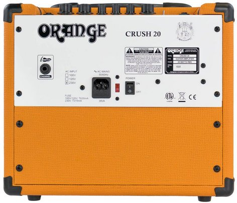 "Orange Amplification Crush 20 20W Guitar Amplifier with 8"" Speaker CRUSH20"