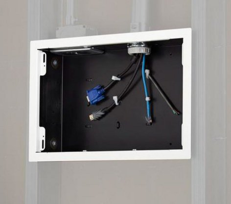 Chief Manufacturing PAC525FW  In-Wall Storage Box with Flange in White PAC525FW