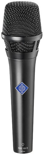 Neumann KMS 105 D Digital Handheld Microphone with K 105 Supercardioid Capsule, KMS Pouch, & SG 105 Stand Mount KMS105-D