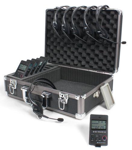 Williams Sound DWS COM 6 300 Digi-Wave Wireless Intercom System with (6) DLT 300 Transceivers and (6) Single-Ear Headsets DWS-COM6-300