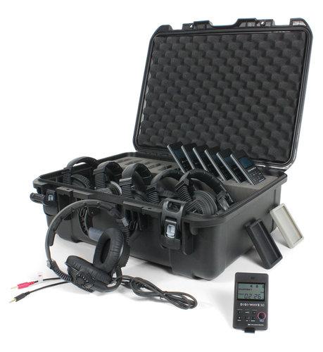 Williams Sound DWS COM 6 PRO 300 Digi-Wave Wireless Intercom System with (6) DLT 300 Transceivers and (6) Dual-Ear Headsets DWS-COM6-PRO-300