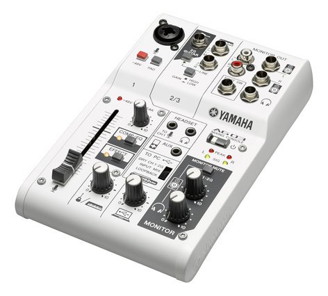 Yamaha AG03 Multi-Purpose 3-Channel Mixer with Onboard DSP and USB Audio Interface AG03-CA