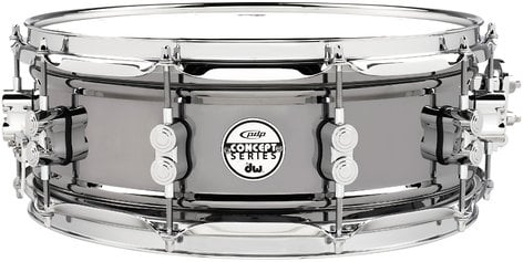 "Pacific Drums PDSN5514BNCR 5.5""x14"" Concept Series Black Nickel Over Steel Snare Drum PDSN5514BNCR"