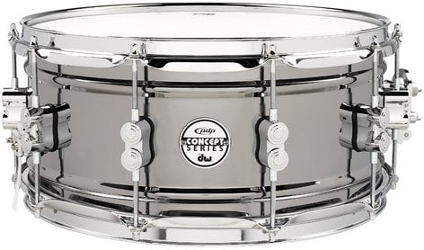 "Pacific Drums PDSN6514BNCR Concept Series Black Nickel over Steel 6.5""x14"" Snare Drum with Chrome Hardware PDSN6514BNCR"