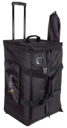 """Arriba Cases AS-185  Rolling Speaker Bag for 15"""" Loudspeakers with Telescoping Handle and Stand Bag AS-185"""